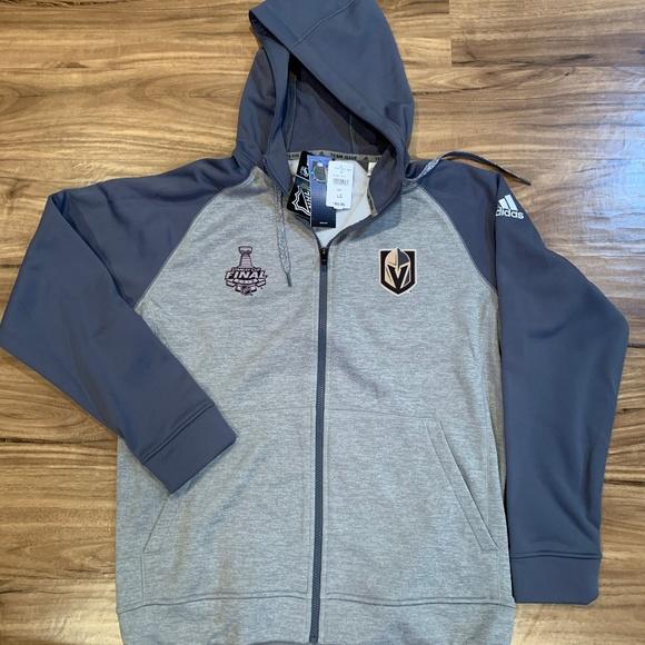 adidas nhl men's 2018 fleece full zip hoodie